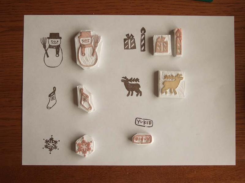 消しゴムはんこのデザインの作り方(ハンコ初心者 図案 インク無料 材料 道具 ブロ\u2026
